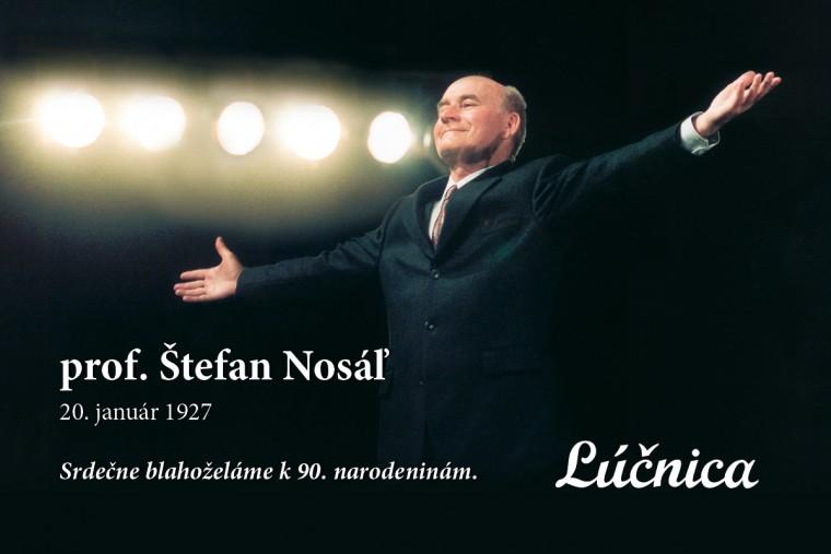 Štefan Nosáľ oslavuje 90. narodeniny